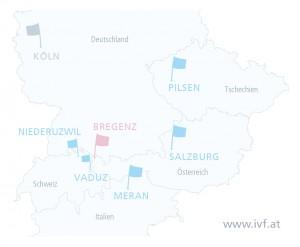 IVF Zentren Prof. Zech_Standorte Europa